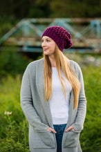 Load image into Gallery viewer, Slouchy Puff Stitch Toque