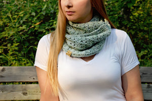 Succulent Infinity Scarf Crochet PATTERN