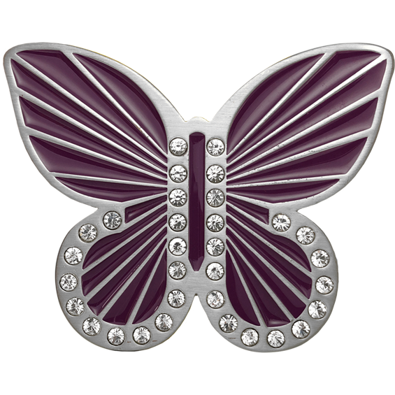 Purple Full Butterfly Buckle