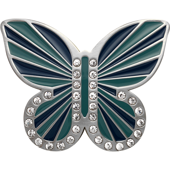 Aqua Blue Butterfly Buckle