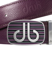Purple Full Grain Textured leather Strap with Buckle