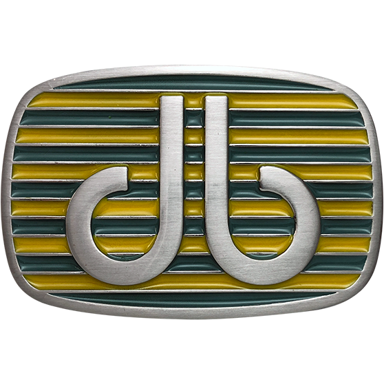 Yellow and Aqua Stripe Buckle