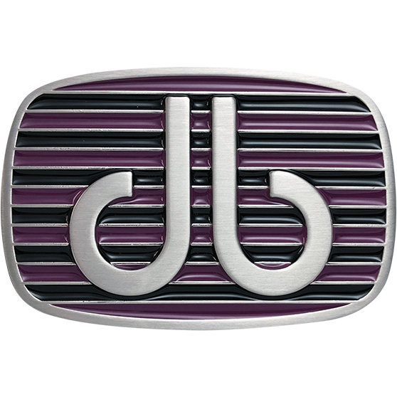 Purple and Black Stripe Buckle