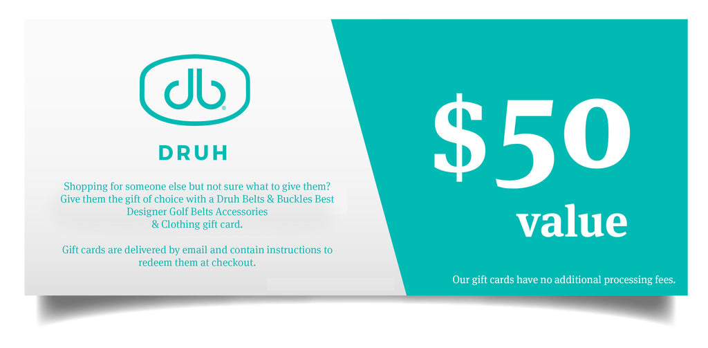 Druh Belts & Buckles Gift Card