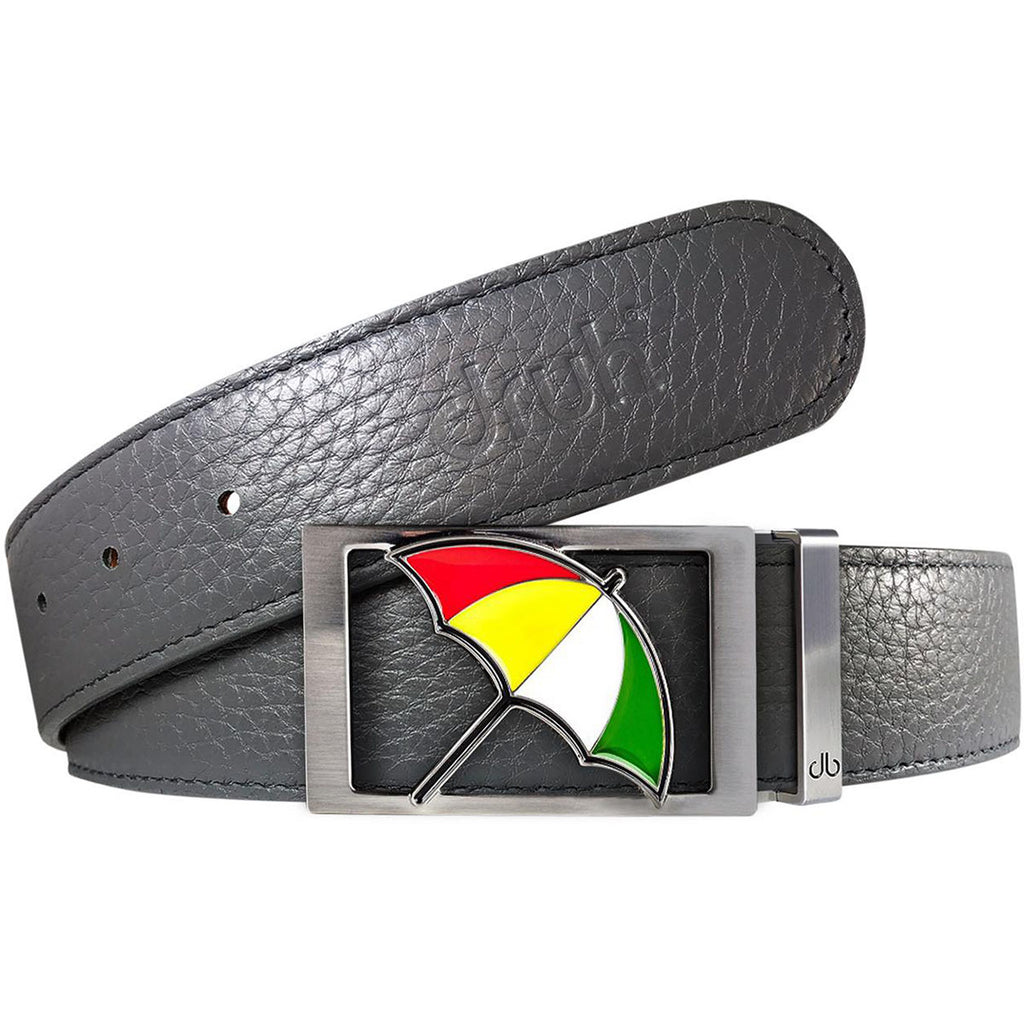 Grey Full Grain Textured Leather Belt with Arnold Palmer Buckle