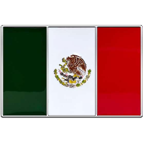 Mexico Flag Buckle