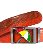 Arnold Palmer Umbrella Buckle with Red Snakeskin Belt