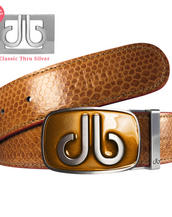 Brown Tinted Buckle with Brown Snakeskin Belt