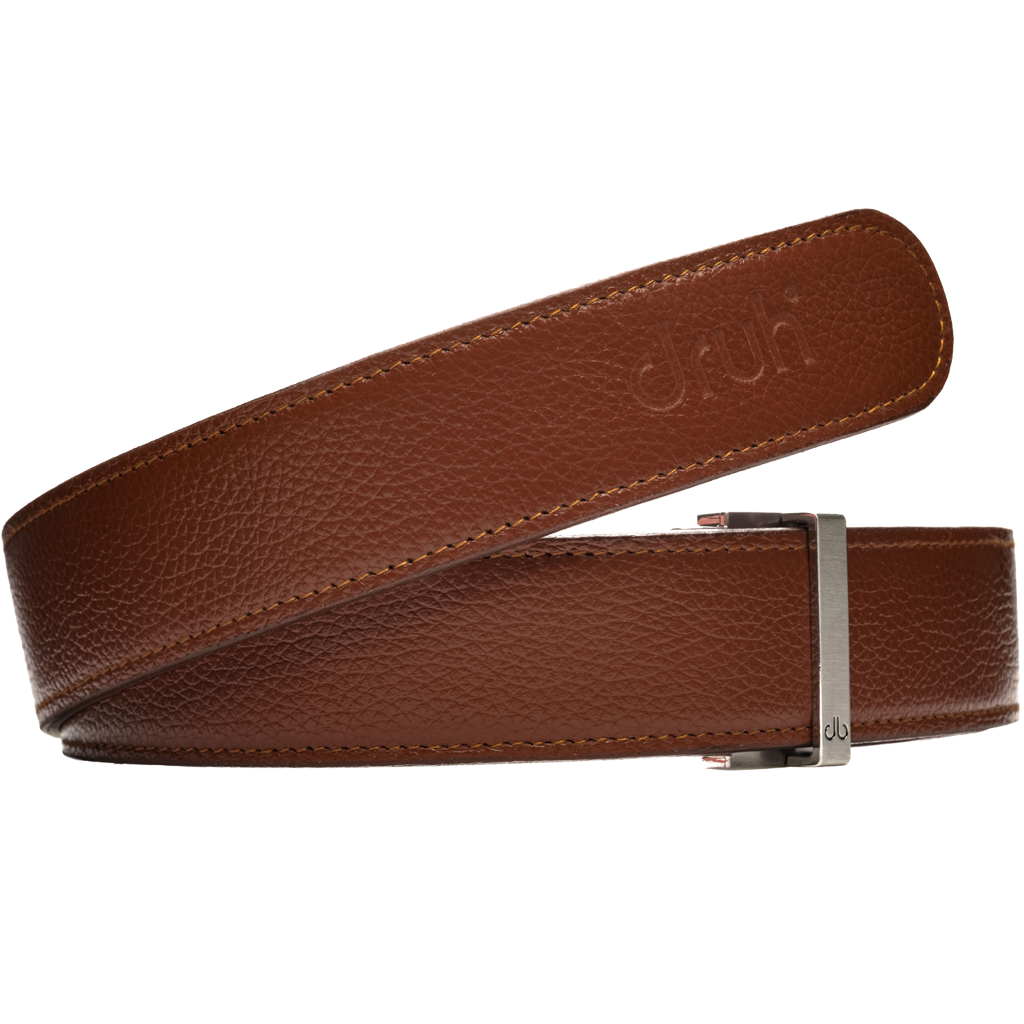 Brown Full Grain Patterned Leather Strap
