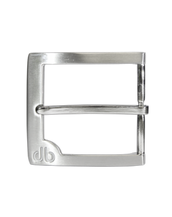 Silver Classic Prong Buckle with White Detail