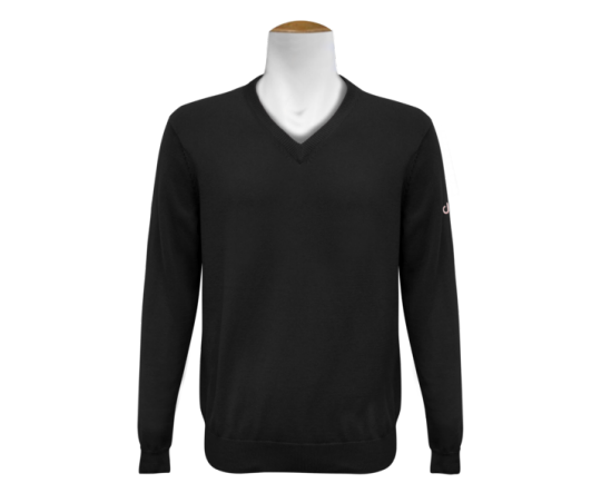 V Neck Jumper - Black