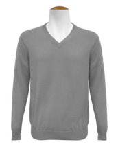 V Neck Jumper - Grey