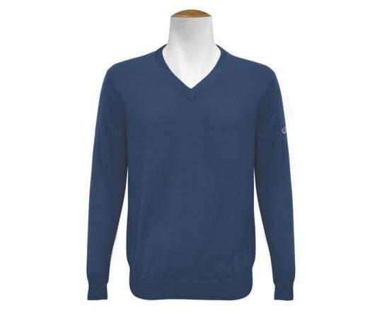 V Neck Jumper - Navy