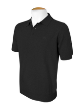 Short Sleeve Polo Jumper - Black