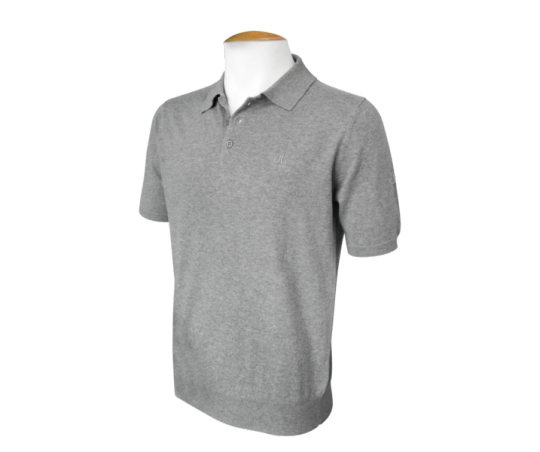 Short Sleeve Polo Jumper - Grey