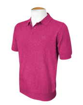 Short Sleeve Polo Jumper - Magenta