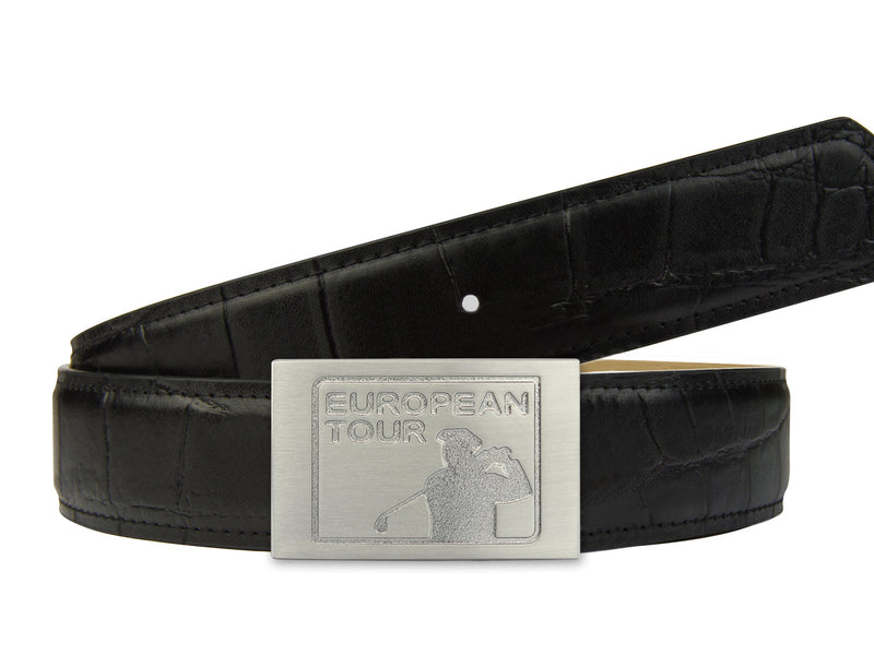 European Tour Limited Edition Belt in Black with Buckle