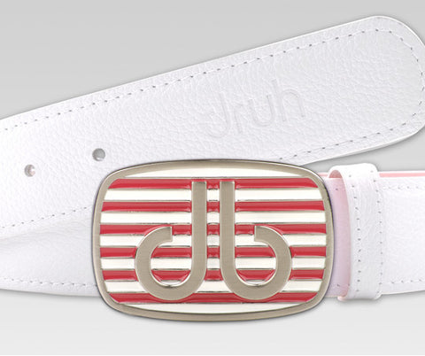 Pink and White Stripe Buckle