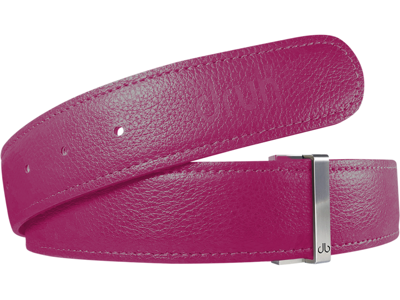 Pink Full Grain Texture Leather Belt
