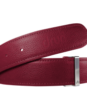 Fuschia Full Grain Textured Leather Belt