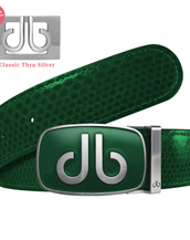Green Snakeskin Leather Belt with buckle