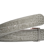 Grey Crocodile Patterned Leather Strap