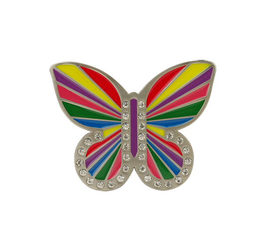 Rainbow Butterfly Buckle