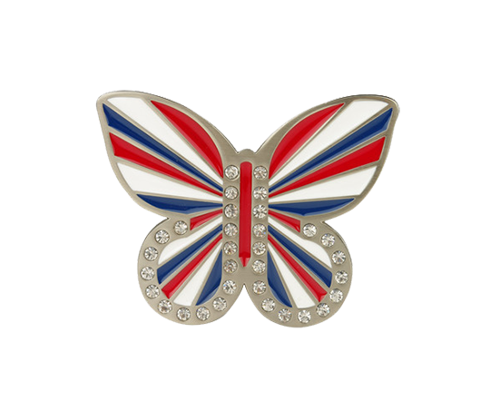 Union Jack Butterfly Buckle