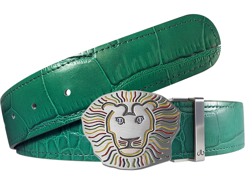 John Daly Crocodile Leather Belt in Green