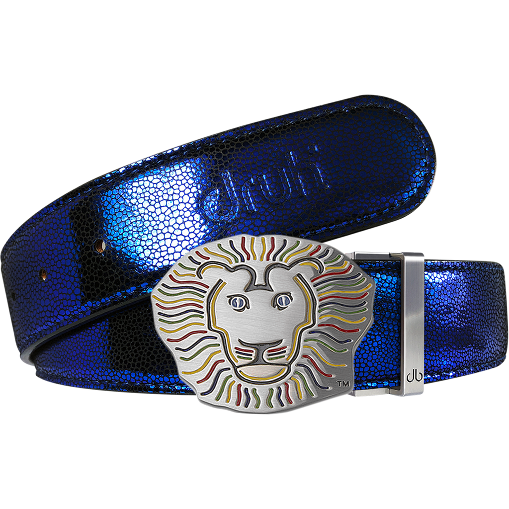 John Daly Stingray Leather Belt in Blue
