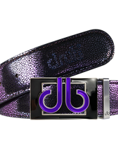 Purple Stingray Leather Belt with Black & Purple db Colour Thru Buckle