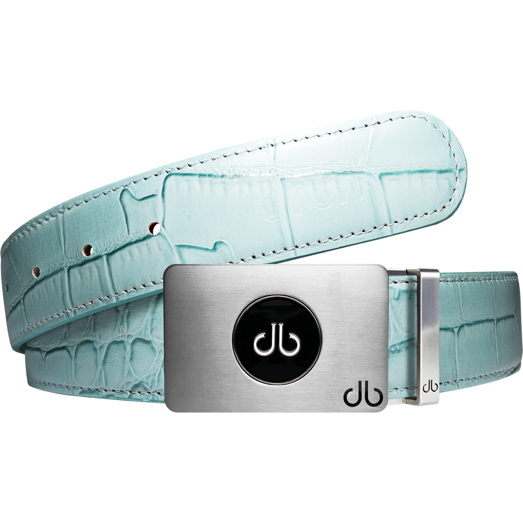 Ballmarker Aqua Crocodile Leather Texture Belt