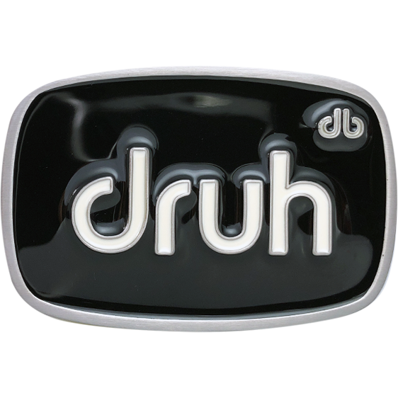 Druh Oval Black & White Buckle