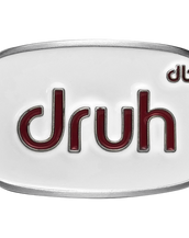 Druh Oval White and Brown Buckle