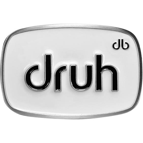 Druh Oval White & Black Buckle