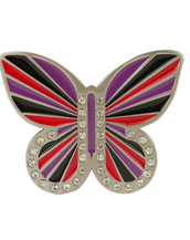Red, Black and Purple Butterfly Buckle