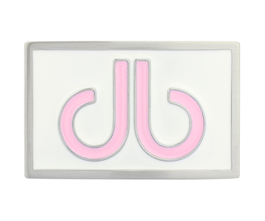 Double Infill Buckle White and Pink