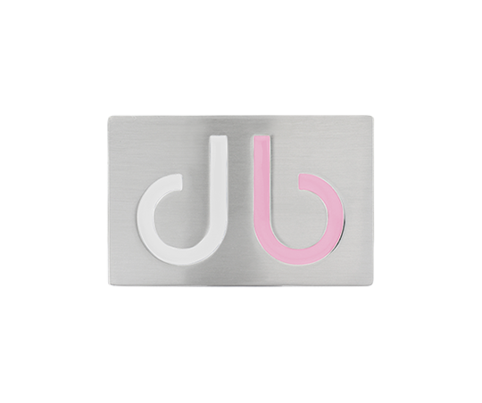 White & Pink Two Tone Infill Buckle