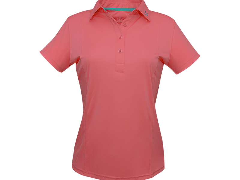 Dark Pink Designer Polo Shirt Women