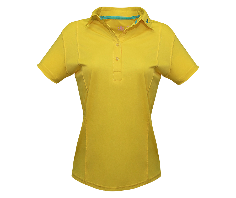 Yellow Designer Polo Shirt Women