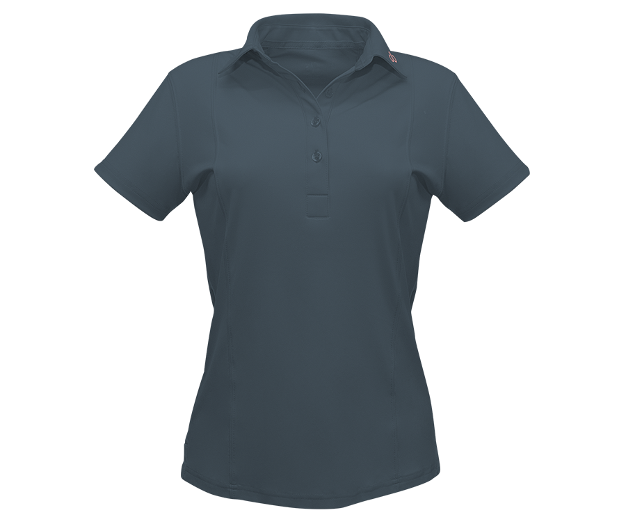 Grey Designer Polo Shirt Women