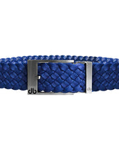 Blue DB Icon Dreave Reversible Belt with Silver Prong