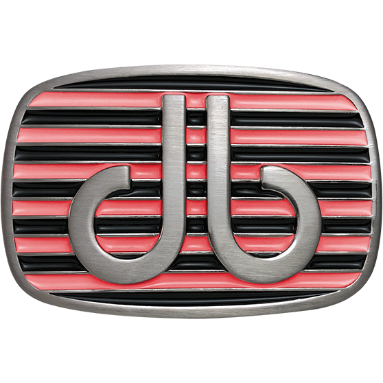 Pink and Black Stripe Buckle