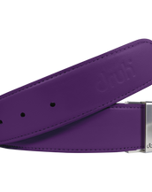 Purple Plain Textured Leather Belt