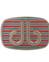 Pink and Aqua Stripe Buckle