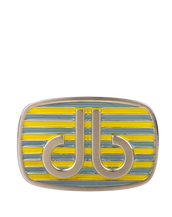 Aqua and Yellow Stripe Buckle