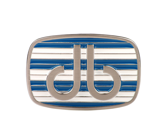 Blue and White Double Stripe Buckle