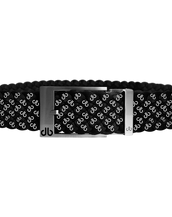 Black DB Icon Dreave Reversible Belt with Silver Prong