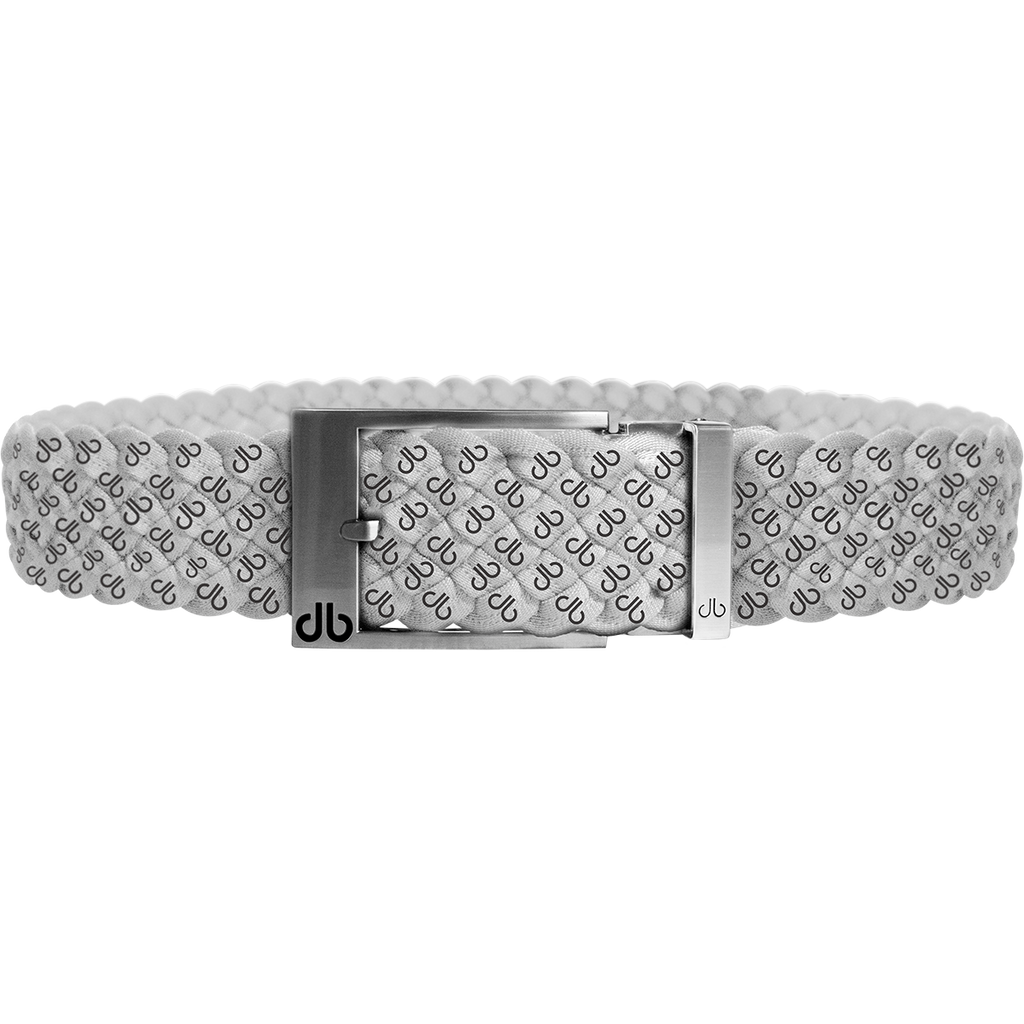 White DB Icon Dreave Reversible Belt with Silver Prong