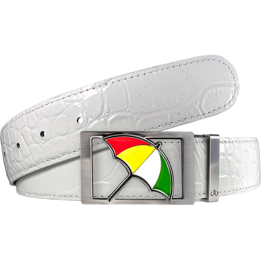Arnold Palmer Crocodile Leather Belt in White
